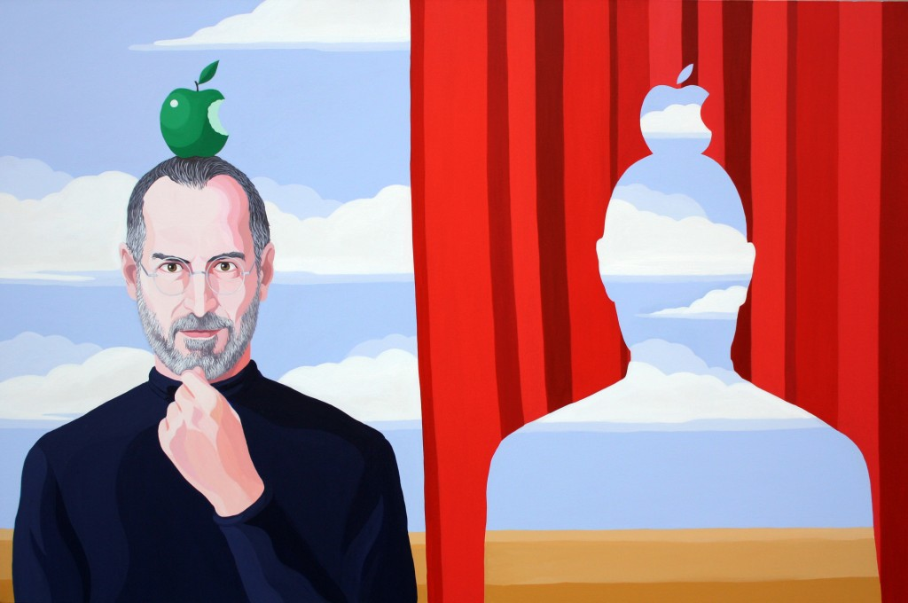 THINK DIFFERENT, 2012, acrilico su tela, cm 90x135, courtesy gallery Contini