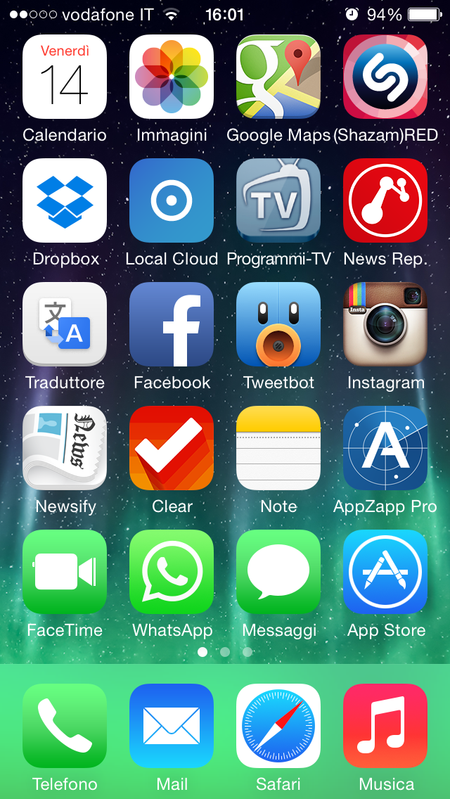 iOS 7.1: come ridurre la trasparenza di tastiera, menù e finestre