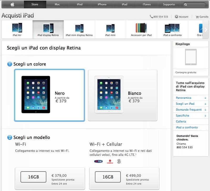 ipad 4 retina apple store online 800