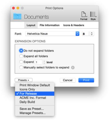 Print Window 5.4, stampare le finestre del Finder