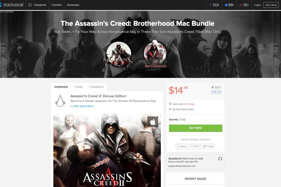 Assassin's Creed per Mac