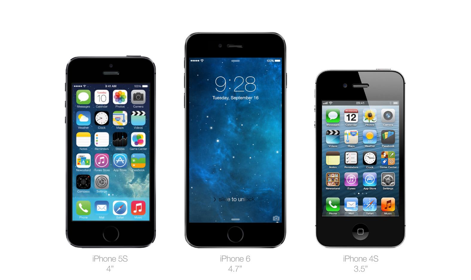 confronto schermo iphone