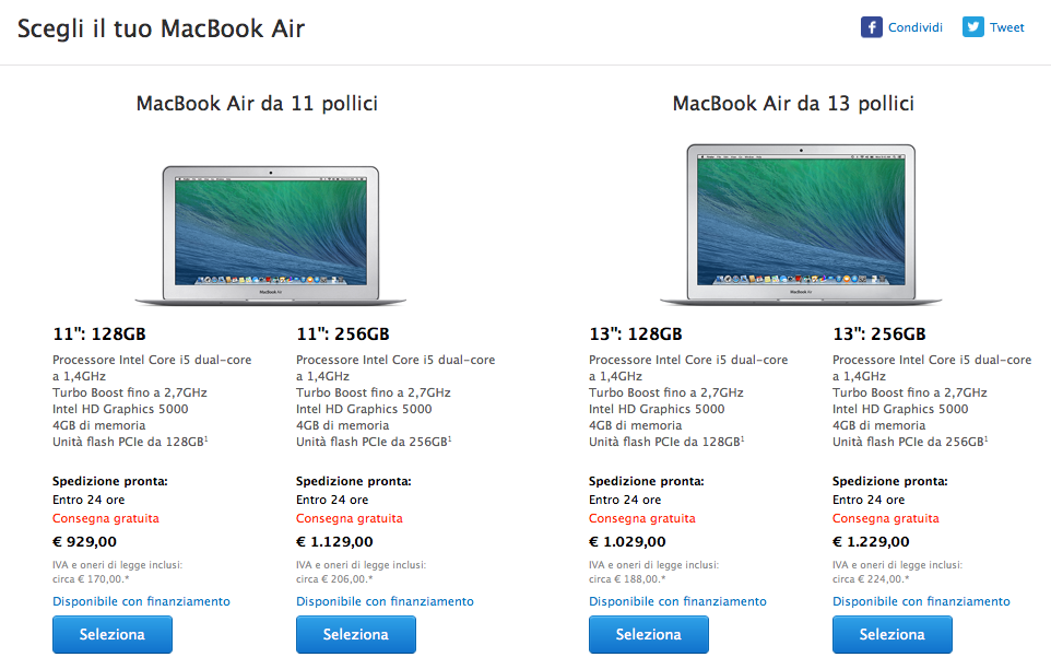 nuovi MacBook Air