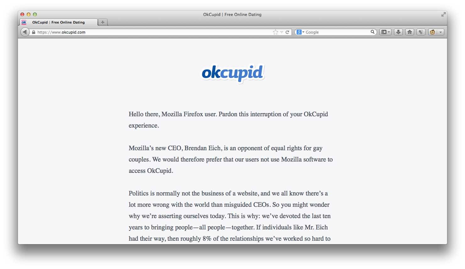 OkCupid peggiore datazione profilo