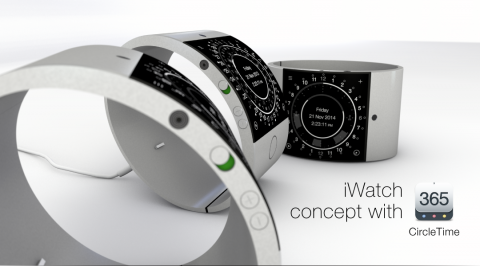 iWatch Concept: bracciale in alluminio con display quadrato e Touch ID