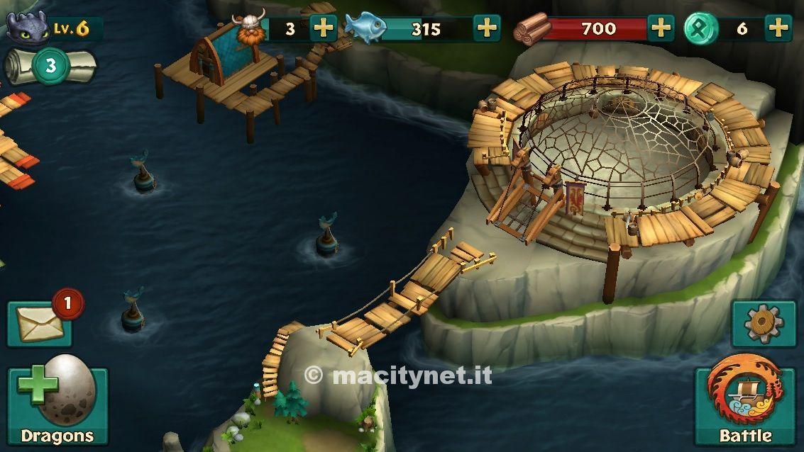 Dragons: L'ascesa di Berk per iOs, un salto nel mondo di Dragon Trainer