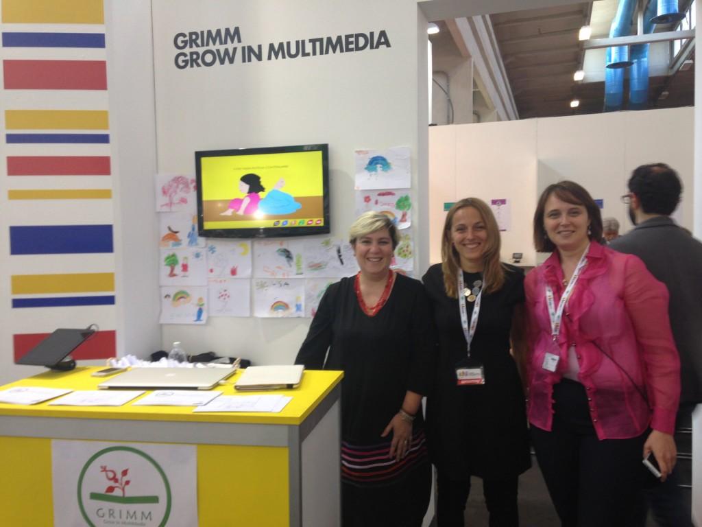 Il team di Grimm - Grow in multimedia al Salone del Libro