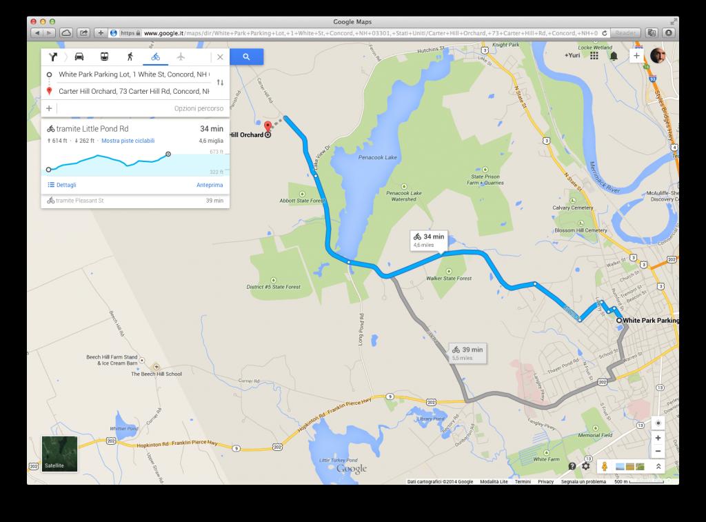 bicicletta su Google Maps