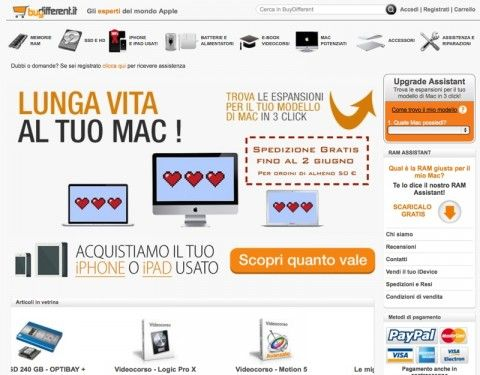 buydifferent corriere gratis home 800