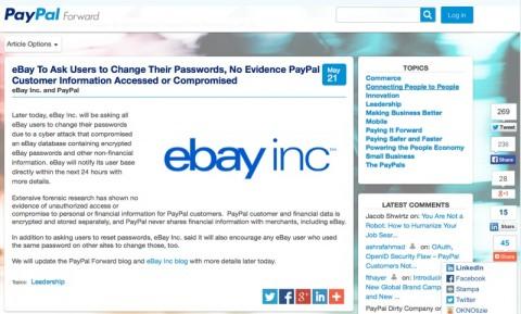 ebay violato 800