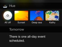 Widget iOS 8, Philips è la prima a mostrare quello di Hue