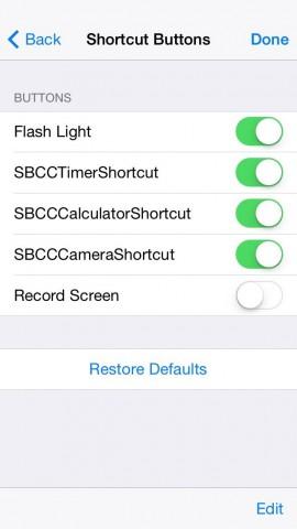 Control Center iOS 8