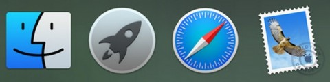 Dock di OS X 10.10 Yosemite 1