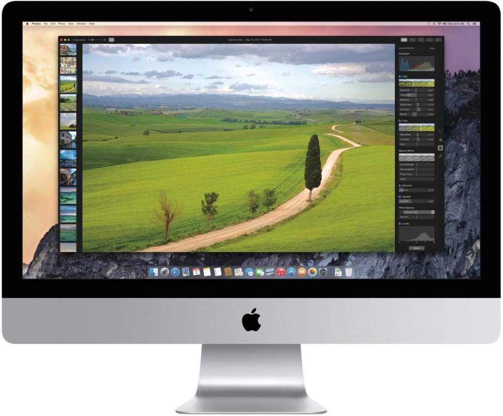 L'unica immagine al momento  nota dell'app Foto per OS X