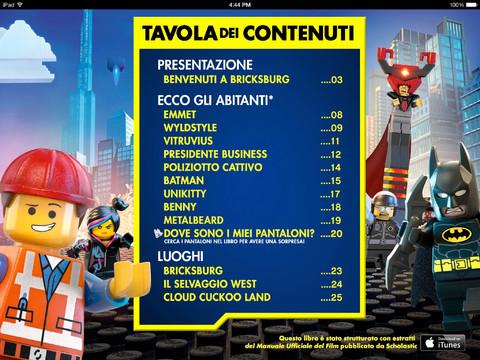 Libro interattivo Lego Movie 1