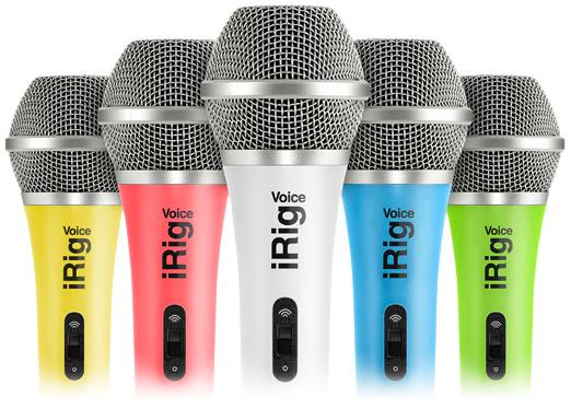 iRig Voice, il microfono colorato di IK Multimedia per cantare su iOS e Android