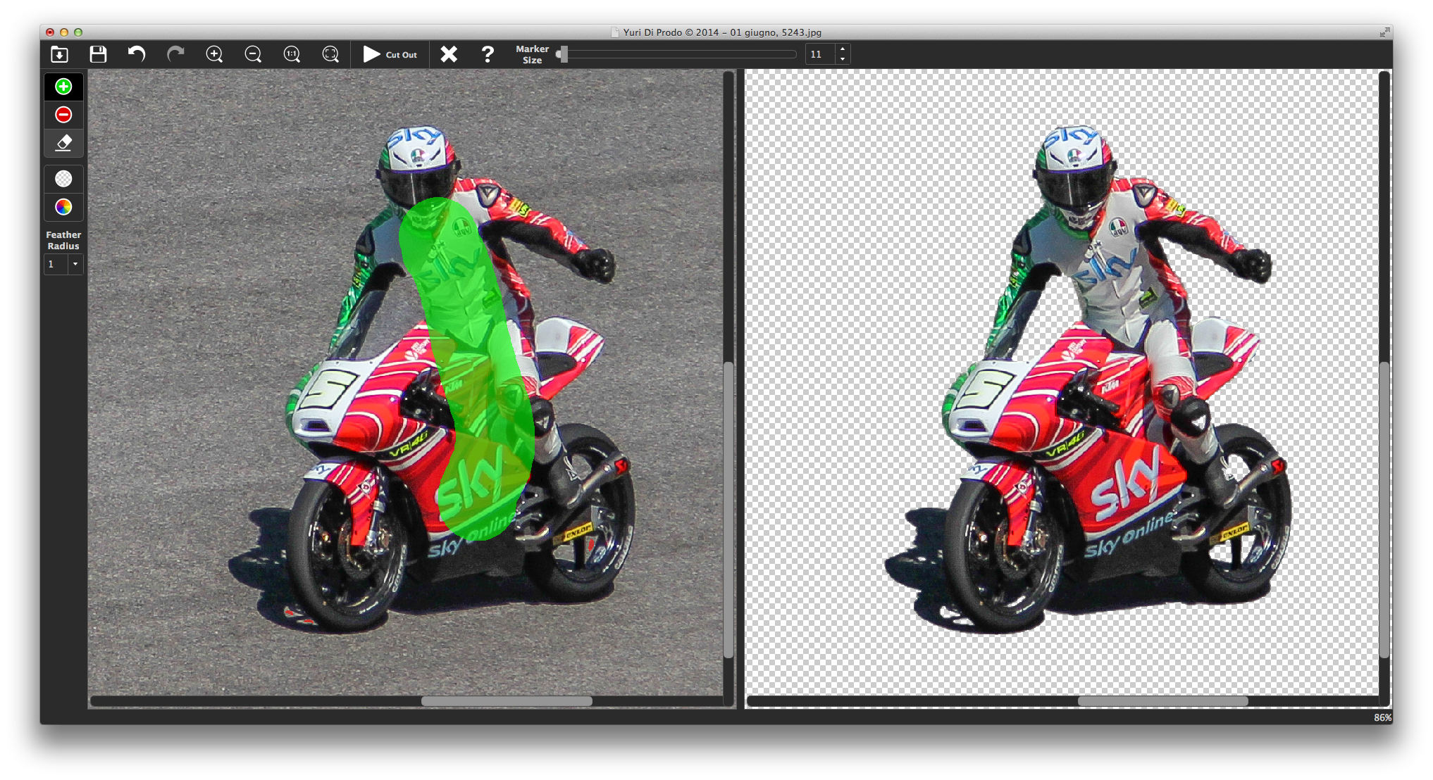 PhotoScissors, meno di due secondi per scontornare i soggetti nelle foto