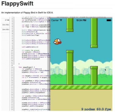 linguaggio swift 800 flappy bird