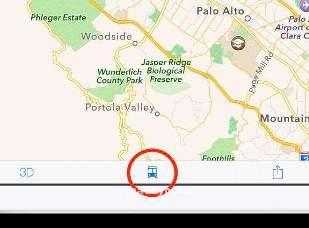 mappe ios 8 trasporti pubblici