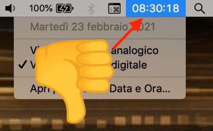 Orologio su Mac: come personalizzarlo con Sole, Luna e giorno della settimana