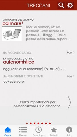 vocabolario per iPhone