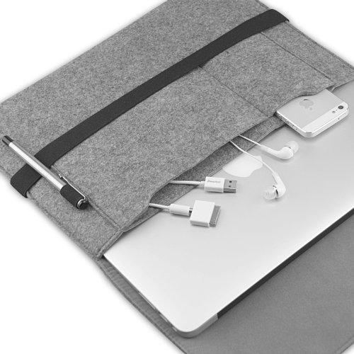 recensione custodia easyacc la borsa in feltro con tasche per macbook air e computer da 13. Black Bedroom Furniture Sets. Home Design Ideas
