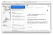 In Mail una nuova funzione Markup permette di annotare un allegato appena ricevuto e rispedirlo al volo, senza uscire dal programma. Altra novità è Mail Drop: permette di inviare allegati pesanti senza preoccuparsi delle dimensioni.