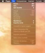 Esempio di menu in modalità Dark