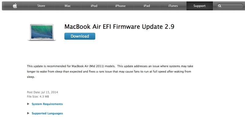 MacBook Air metà 2011 EFI