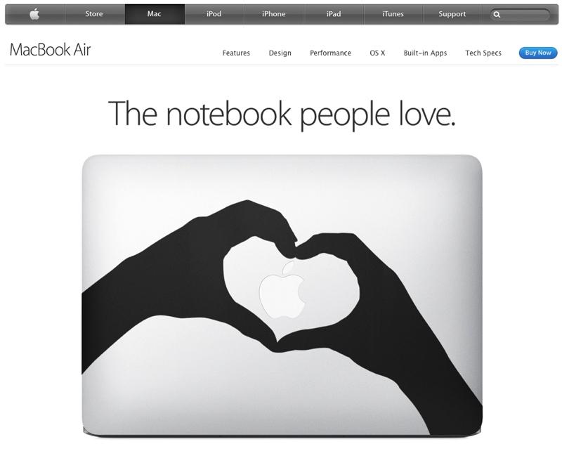 Risultati Apple Q3 2014 - sticker macbook air