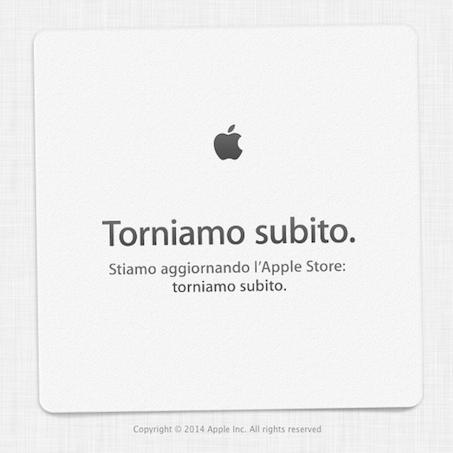 Apple Store Online chiuso