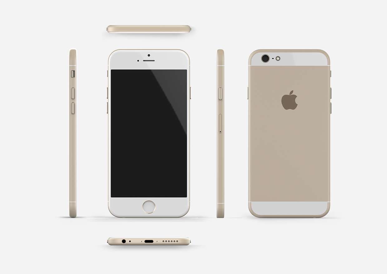 Iphone 6 il rendering definitivo for Bureauhouder iphone 6