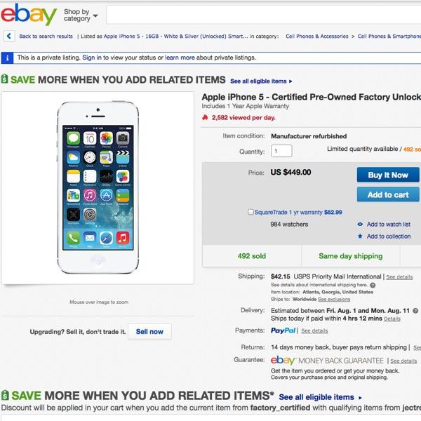 iphone usati apple ebay usa