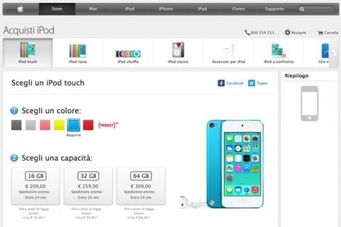 nuovo ipod touch 16gb disponibile 700