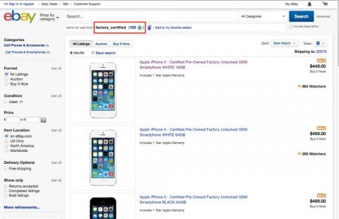 usato apple su ebay - factory_certified 1000