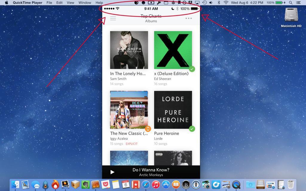 Barra di stato su iOS 8