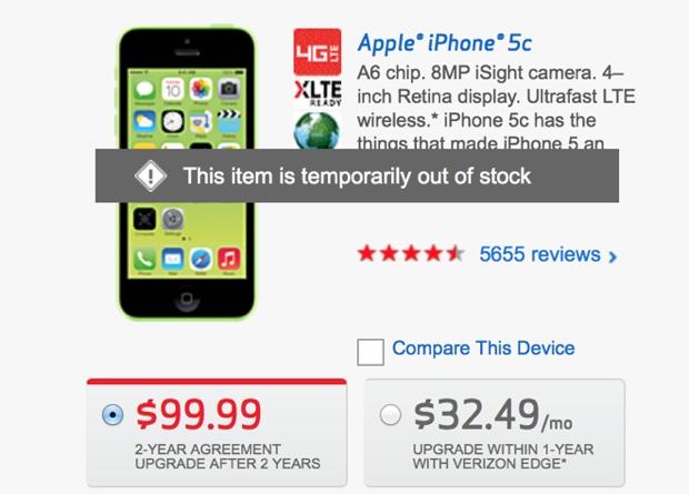 iphone 5c verison end line 620