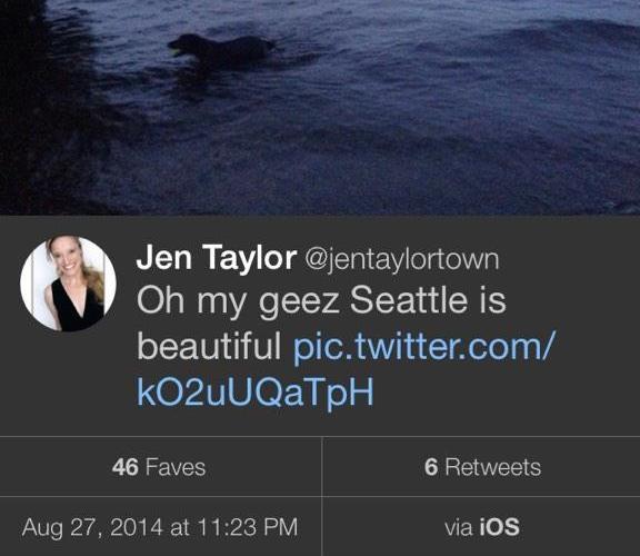 Tweet di Jen Taylor
