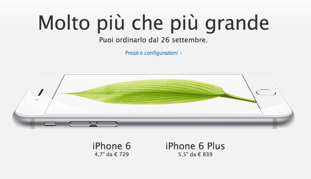 prezzi iphone 6