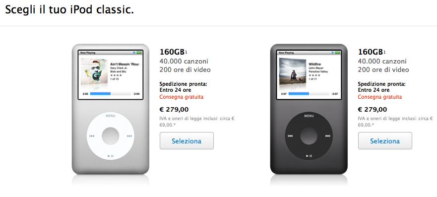 iPod Classic da 160 GB