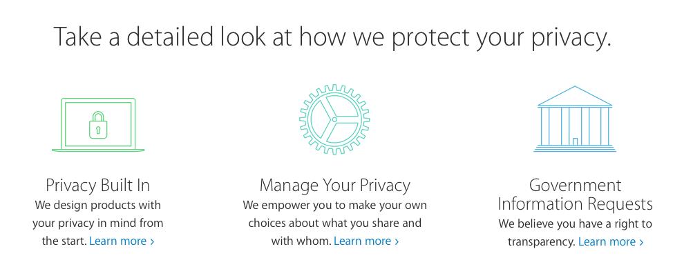 Apple nuovo sito privacy