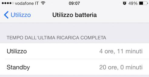Durata batteria iPhone 6 Plus