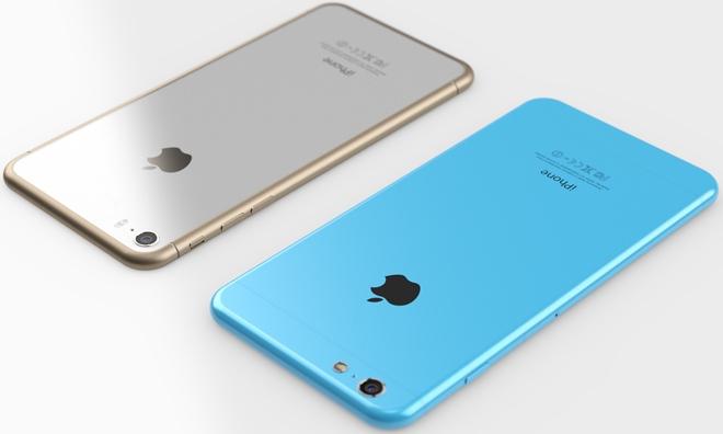 Concept dell'ipotetico design di iPhone 6 e iPhone 6c.