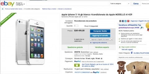iPhone 5 ricondizionato ebay 800