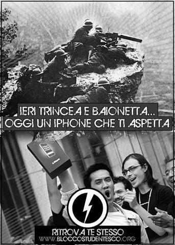 iPhone 6 volantino Blocco Studentesco