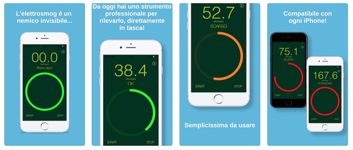 iElectrosmog, l'app che rileva le radiazioni elettromagnetiche