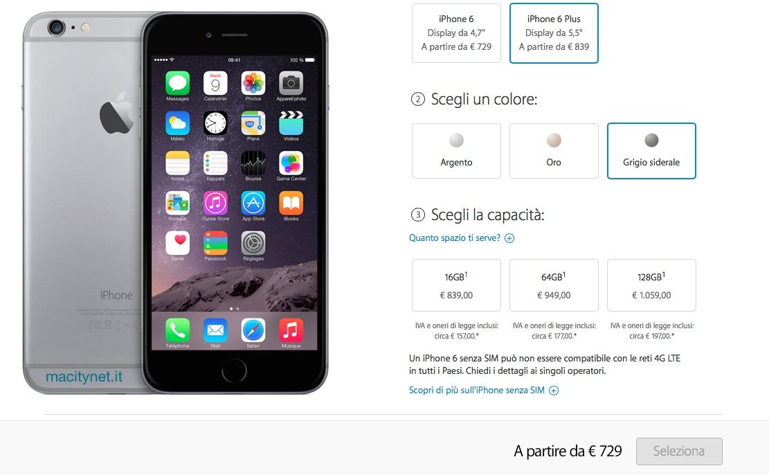 apple iphone 6 plus prezzi