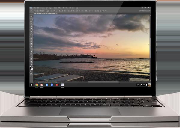Chrome OS, disponibile Photoshop in streaming via Creative Cloud