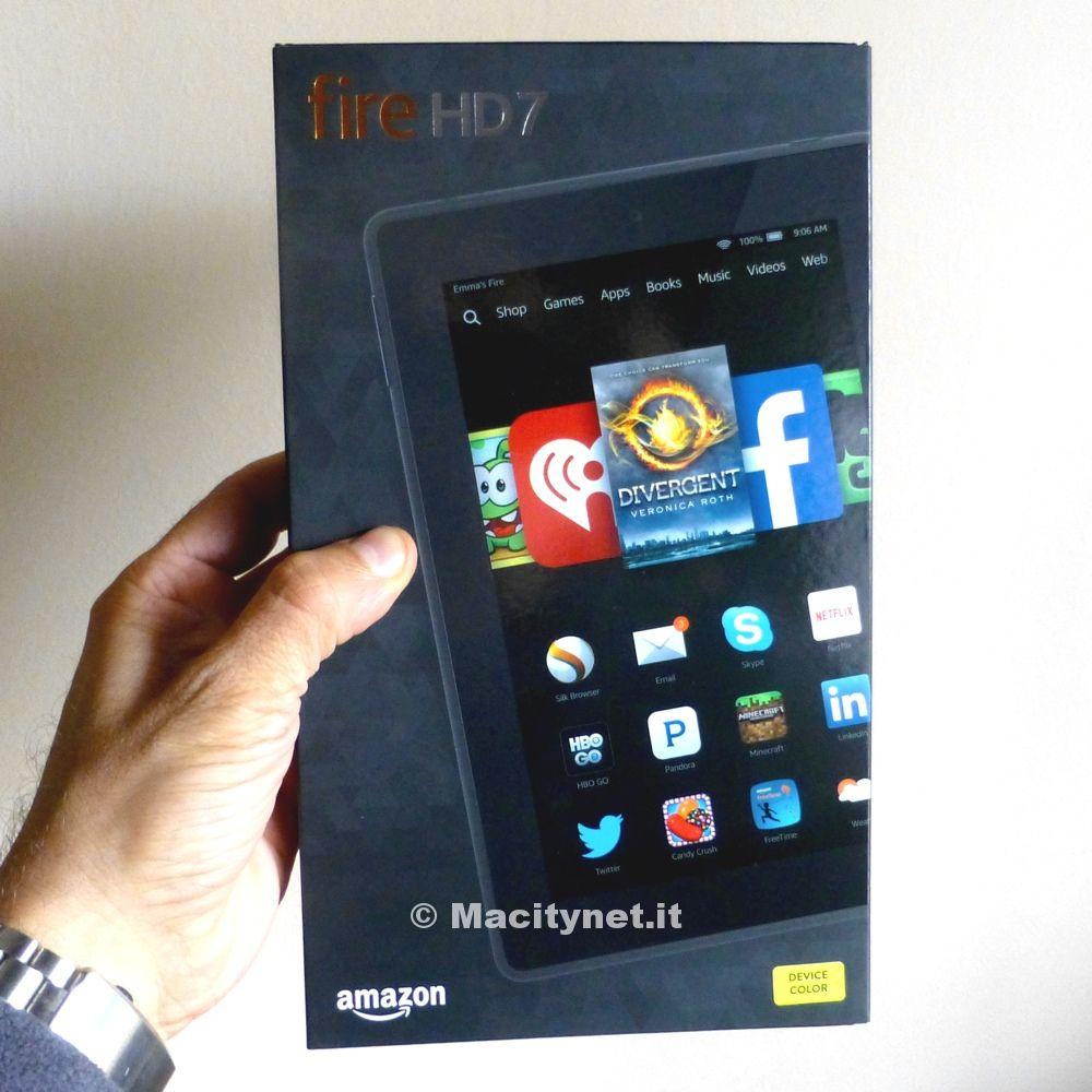 Amazon Fire HD 7 box 1 scatola 1000