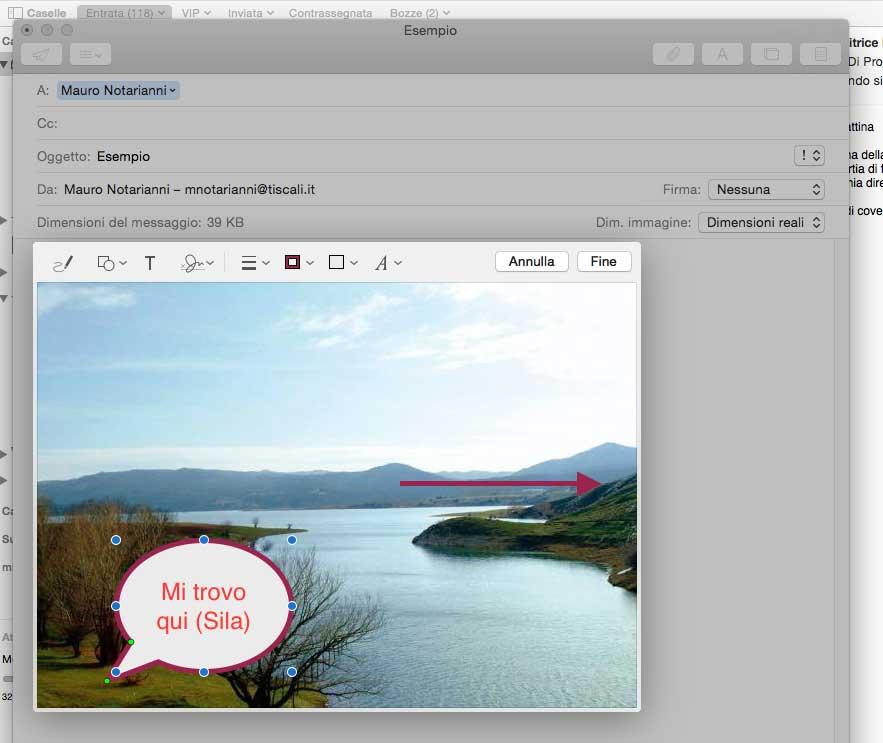 La nuova funzione Markup permette di annotare un allegato appena ricevuto e rispedirlo al volo, senza uscire da Mail.